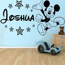 Custom MICKEY MOUSE Wall Sticker Vinyl Decal Graphics Personalized Name & Color
