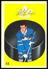 1962 63 PARKHURST HOCKEY #12 ED LITZENBERGER EX-NM TORONTO MAPLE LEAFS CARD