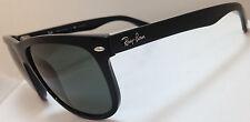 Mens Ray-Ban Sunglasses Black Frame Green Polarized G-15 RB4147 601/58 56MM LENS