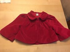 Tea Collection Bolero Style Jacket, Rich Pink Color, Size 4-5, Soft Fabric