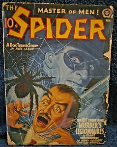 The SPIDER Pulp (1942) - Raphael DeSoto & Giant SPIDER Cover !