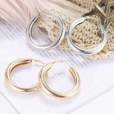 50 Mm Big Gold Hoops Earrings Minimalist Thick Tube Round Chunky Hoop Earrings