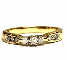 10k yellow gold .18ct round diamond engagement ring 2.7g estate vintage antique