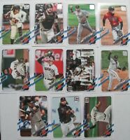 2021 TOPPS SERIES 1 ⚾ SAN FRANCISCO GIANTS 11 CARD TEAM SET WITH 2 ROOKIES