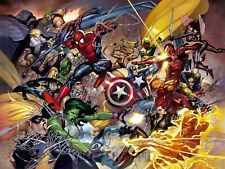 Poster A3 Heroes Marvel Iron Man Avengers Spiderman Vision Thor