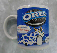Vtg Oreo Cookie COFFEE MUG TEA CUP Blue Tired Cow Milk Jug Kraft 31521 Nabisco!