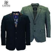 Mens Cavani Big Size Formal Smart Tweed Lined Dinner Jacket Blazer  54 56 58 60