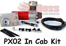 BOSS PX02 In Cab Kit for Air Bag Suspension - Compressor Gauge Switches Air Line