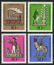 Germany B450-B453,  MNH. Tin Toys:Locomotive, Gardener, Bird seller, Knight,1969