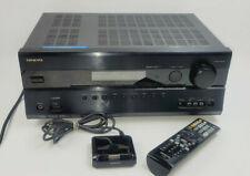 Onkyo TX SR607 7.2 Channel 210 Watt Receiver With Remote Tested bundle