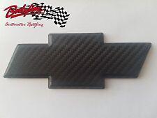 TRIMBITE BLACK CARBON Chevrolet Chevy Bowtie Badge Emblem 3D for HOLDEN stick-on