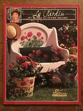 "SCHEEWE ""Le Jardin (The Gardin) WATERCOLOR & Acrylic Susan Scheewe Brown"