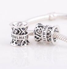 SOULMATE LOVE HEART VALENTINE Genuine S925 Sterling Silver Charm Bead European