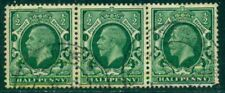 Great Britain Sg-439a, Scott # 210a Strip Of 3, Used, Wm Sw, Vf, Great Price!