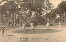 BELGIUM CONGO PICTORIAL POSTAL STATIONERY CARD USED Nº 60 TO BELGIQUE GOLF GREEN