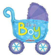 """Baby Shower Nuovo Bambino Festa Decorazione """"è un maschietto"""" ARIA PER CARROZZINA riempimento Foil Balloon"""