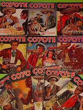 "11 x "" COYOTE ""- ROMANHEFTE zwischen Nr. 15 - 52 / JOSÈ MALLORQUI / ca.1949-1955"