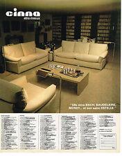 PUBLICITE ADVERTISING 054  1980  CINNA    meubles salon ESTELLE