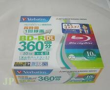 10 Verbatim blu ray disc dual layer bluray 50GB bd 4x Japan