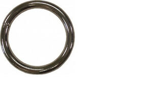 "5ea 2"" ID x 6.2mm Thick Welded Steel Ring Nickel Plate 3STNP"