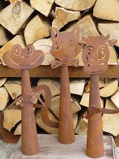 Edelrost Zaungucker Frosch  Zaunhocker Metall Zaun Figur Dekoration  Rost Beet