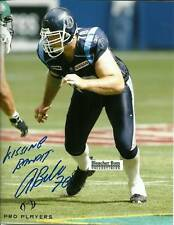 Adriano Belli Argonauts CFL Football Auto 8x10 Photo