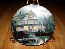Thomas Kinkade's Home Is Where The Heart Is The Twilight Cafe Kinkade Plate