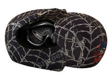 Venom Helmet Cover Wired Web Black Off Road Motorcycle Skin MX Dirt Bike ATV +