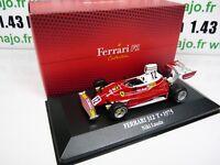 F1F6T voiture atlas 1/43 F1 Ferrari Formule 1 champion : 312 T 1975 NIKI LAUDA
