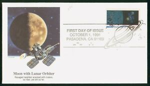 Mayfairstamps US FDC 1991 Moon Lunar Orbiter First Day Cover wwp_57759