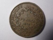 5 francs 1875 petit A argent III République hercule pièce française coin