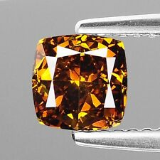 1.01 Cts SPARKLING FANCY HONEY COGNAC NATURAL LOOSE DIAMONDS