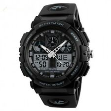 SKMEI 1270 BLACK WITH RUBBER STRAP WATCH FOR MEN - COD FREE SHIPPING