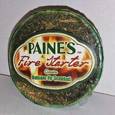 3 pack BALSAM FIR SCENTED Fire Starters camp Paine's SACHET scented pine log