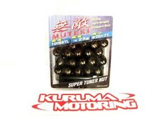 MUTEKI BLACK OPEN END 12X1.25 LUG NUTS SET OF 20