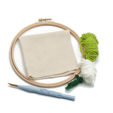 Embroidery Kit Needlework With Hoop Threading Felt Gift Punch Needle For Sewing