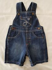 'OSH KOSH' DENIM BABY OVERALLS, SIZE 000, EXCELLENT CONDITION, LIKE NEW
