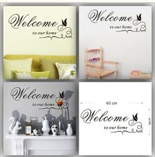 X1 -Welcome to our Home  -Decal sticker home decor: New