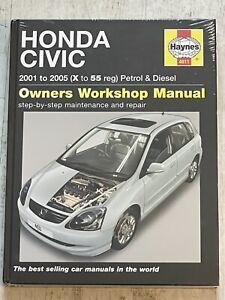 NEW - Haynes Manual 4611 - Honda Civic, 2001 to 2005, petrol & diesel