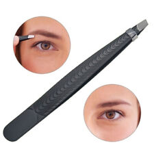 1 PC Beauty Slanted Puller Black Stainless Steel Eye Brow Clips Makeup Tool v
