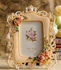 """Pastoral Style 4x6"""" Picture Photo Frame Pink Rose Square Wedding Gift"""