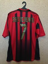 AC Mailand Italien 2004/2005 Home Football Shirt Jersey Camiseta Maglia 7 Schewtschenko