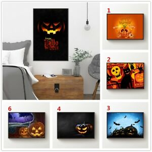 Happy Halloween Printed Canvas Wall Art Painting Poster Home Decor Unframed