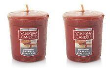 2 x votive yankee candles caramel apple cake christmas winter 15 hour burn time