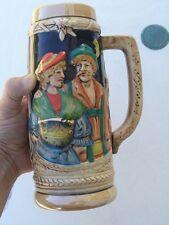 Vintage Original Arnart Made In Japan Beer Stein Mug Tankard 1L HP As IS