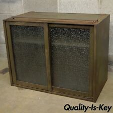 Remington Rand Industrial Green Steel Metal Stacking Barrister Storage Cabinet B