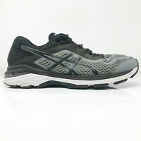 Asics Mens GT 2000 6 T805N Gray Black Running Shoes Lace Up Low Top Size 9