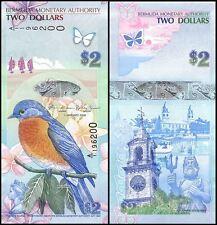 Bermuda 2 Dollars, 2009, P-57, UNC