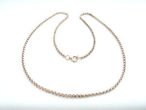 ATTRACTIVE 9CT ROSE GOLD NECKLACE CHAIN. 18.5 INCHES  7.4 GRAMS
