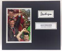 Rare Sir Alex Ferguson Manchester United Foto Autografata + COA Autografo